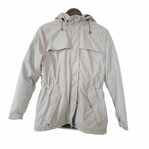 Farwest Grey Drawstring Puffer Winter Jacket Coat